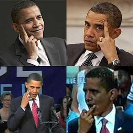 Obama gives America the finger