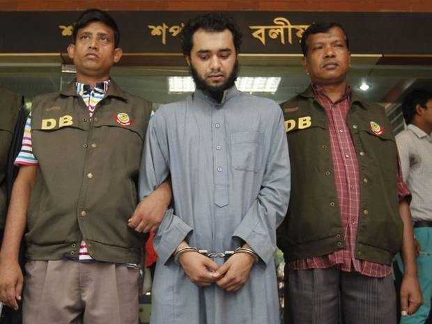 ' British-born Samiun Rahman has been arrested on suspicion of recruiting for Isis '