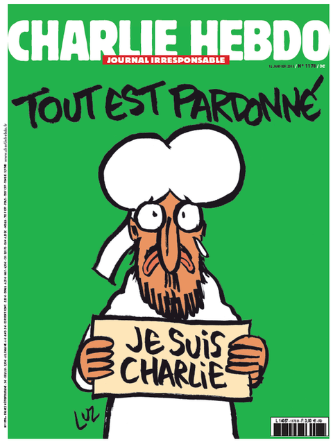The new charlie hebdo cover in response to muzzie attacks